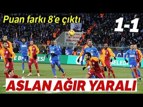 Erzurumspor 1-1 Galatasaray   Aslan Erzurum'da 2 Puan Bıraktı
