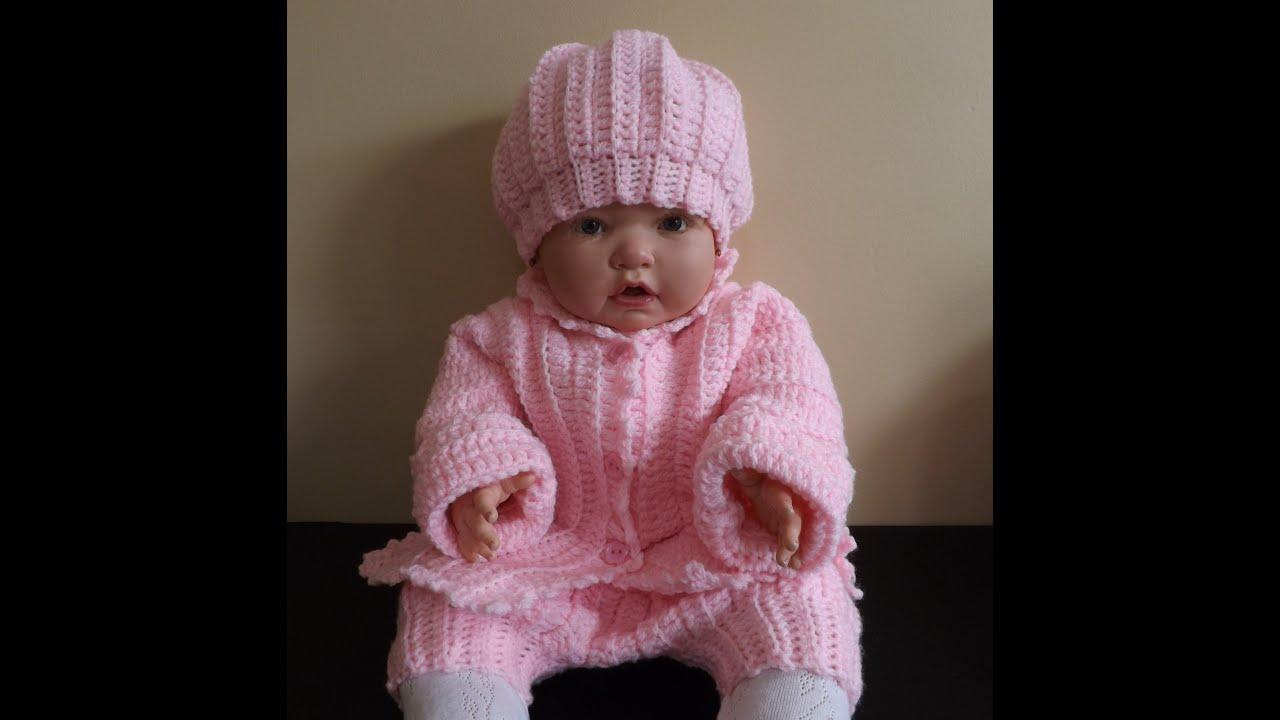 Crochet abrigo o suéter para bebé - con Ruby Stedman. - YouTube