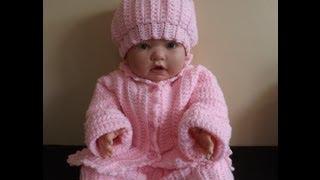 Repeat youtube video Crochet abrigo  o suéter para bebé  - con Ruby Stedman.