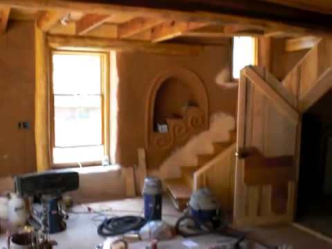 """""""Leela"""" earth home under construction at Earthaven Ecovillage, Black Mountain, NC"""