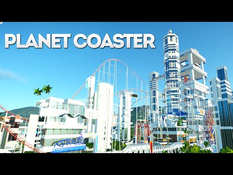 Planet Coaster Creations : THE SCI FI CITY THEME PARK!!