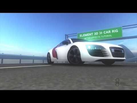 "asART. 3D & motion graphics :: After Effects Tutorial :: ""Semi Advanced Car-Rig"" in Element 3D"