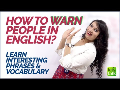 How to Warn People in English? English Phrases & Vocabulary  | English Lesson to Speak Fluently. thumbnail