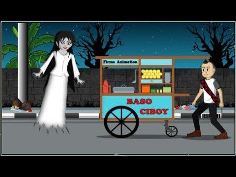 Kartun Hantu Lucu - Kuntilanak Lapar Ngidam Baso