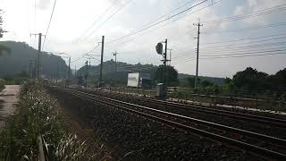 DD51-1802〔迂回貨物列車〕9080レ   道の駅あらエッサ付近通過