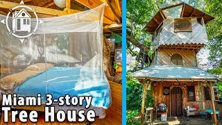 3-story Tree House! Built On A Permaculture Farm In Florida