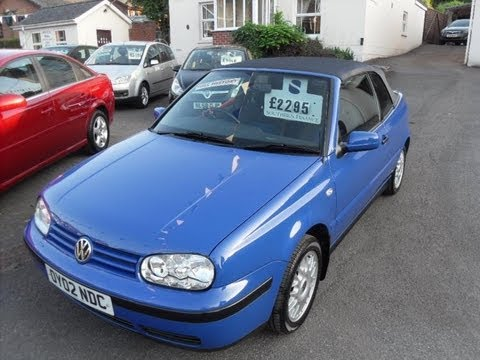 2002 vw golf cabriolet for sale 01980 610231 bourne. Black Bedroom Furniture Sets. Home Design Ideas
