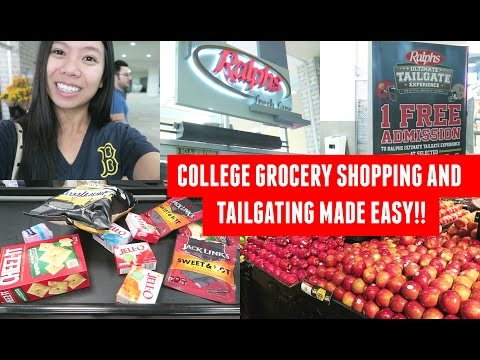 College Grocery Shopping & Ralphs Ultimate Tailgate Experience Promotion!