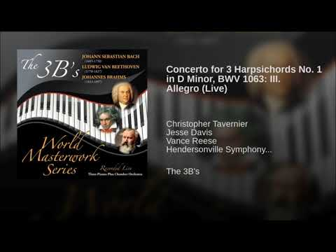 CD -  Baby: J.S. Bach - Concerto No.1 in D minor for Three Pianos, BWV 1063 (Allegro MVT III) mp3