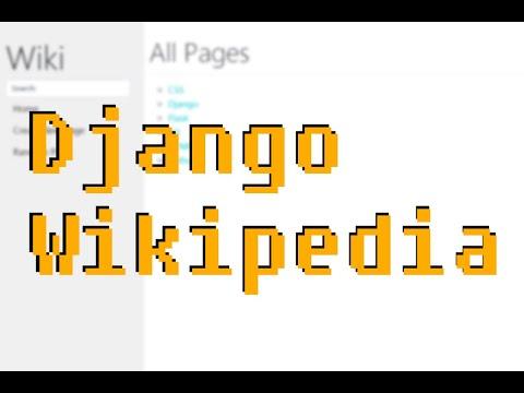 Project 1: Wiki - CS50 Web 2020