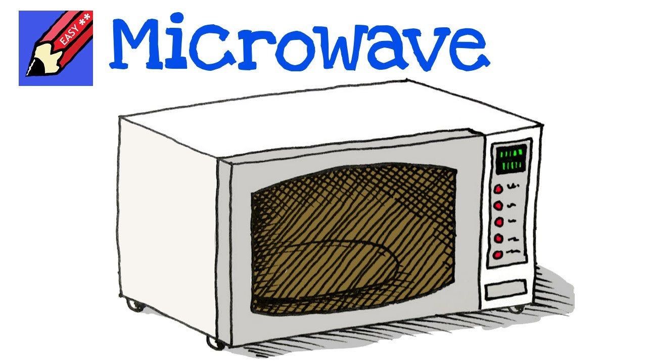 How To Draw A Microwave Oven Real Easy