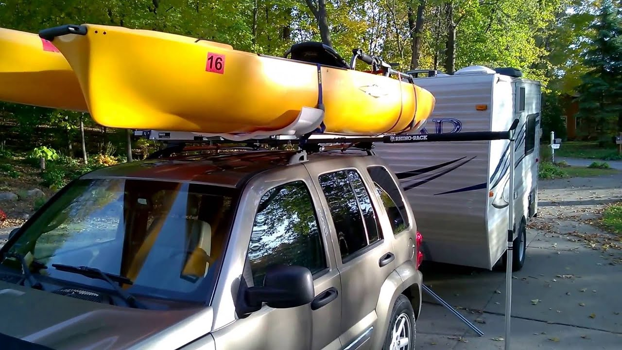 Hobie Revolution Kayak Thule Roof Rack Hullavator OVERVIEW ...