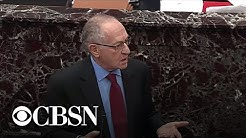 Dershowitz argues Trump can't be impeached for quid pro quo to win reelection