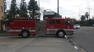 LAFD (Reserve) Engine 87 Responding