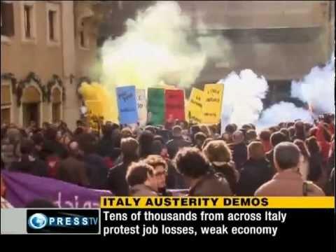 Massive anti-govt. protests held in Italy [Nov 27, 2010]