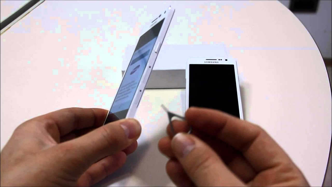 How To Insert SIM Card Samsung Galaxy A5 And A3