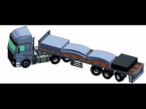 Ballast trailer 3 axle  2 axle contra steering.