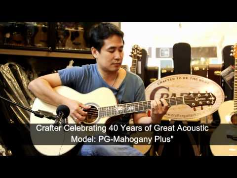 Crafter Guitar PG-Mahogany Plus (40 years of Crafter) by Acousticthai.Net