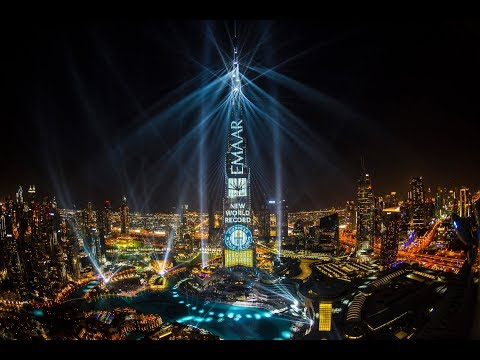 Long highlights of Light Up 2018 in Downtown Dubai