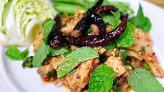 [thai Food] Spicy Grilled Pork Salad (mu Yang Nam Tok)