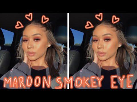 Doing My Brows + Maroon Smokey Eye thumbnail