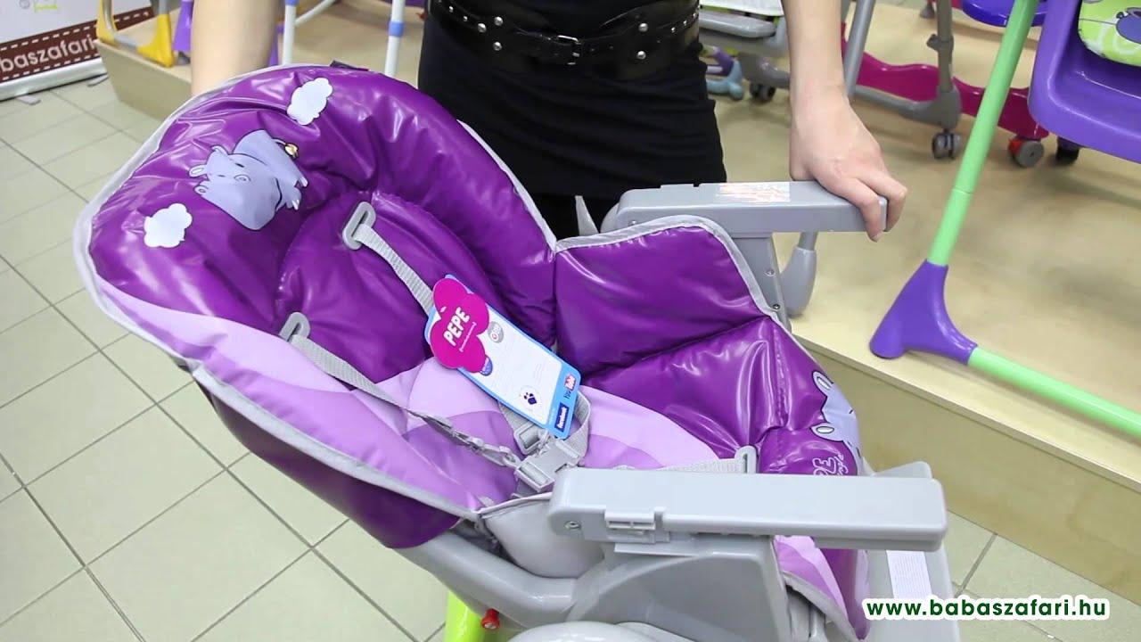 Baby Design Pepe multifunkciós etetőszék - YouTube 2550a75fb8