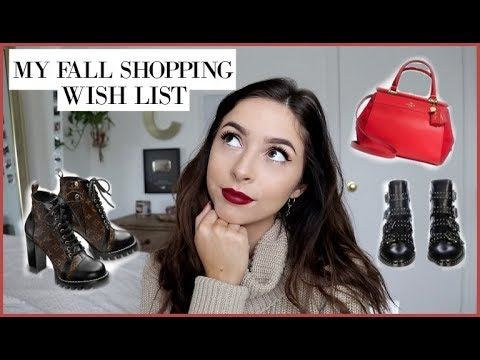 MY FALL SHOPPING LIST | Things I NEED ASAP | Chelsea Trevor