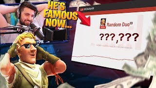 Random Duo With A *FAMOUS* YouTuber!? He's Famous! (Fortnite Battle Royale)