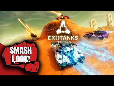 ExoTanks MOBA Gameplay - Smash Look!