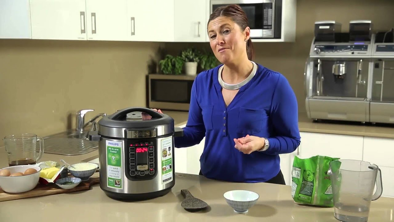 Philips All In One Cooker How To Make Rice Youtube Pressure Hd2136