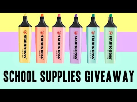 Pastel Back To School Supplies Giveaway 2018  Smiggle Haul Stabilo Bic & More