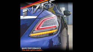 Mars performance smoked full led amg c63-s facelift style tail lights for mercedes-benz c-class w205 sedanlink purchase:https://marsperformance.com.au/sm...
