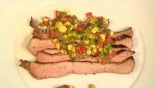 How To Cook The Best Barbecued Flank Steak & Salsa