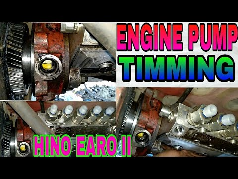 How to engine pump timming for HINO EARO II engine, by Mechanical Group,