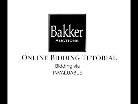 Online bidding at Invaluable