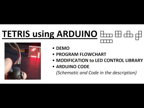 Tetris Using LED MAX7219 MATRIX  And ARDUINO