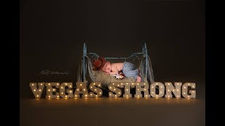 Wyatt VEGASSTRONG Baby Behind the scenes newborn session