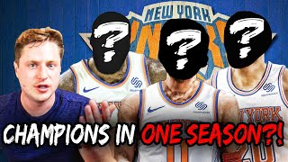 I made the Knicks NBA Champions in ONE SEASON
