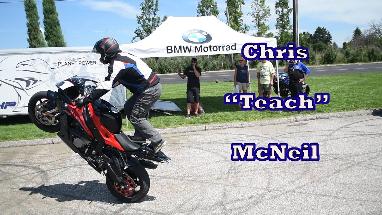 chris teach mcneil at bmw motorcycles cleveland motorrad stunt