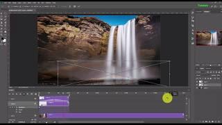 Bir Şelale 2018 Photoshop CC Animasyonlu Resim Akan Yapmak için öğretici