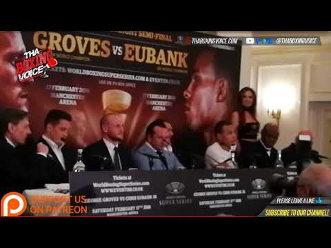 George Groves vs Chris Eubank JR TRADE SHOTS at Press Conference WBSS