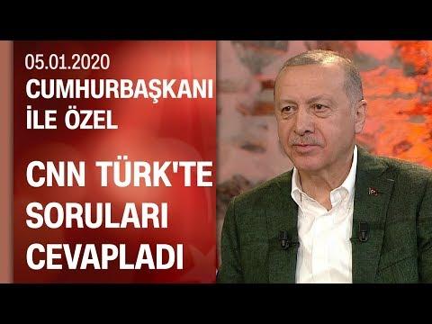 Cumhurbaşkanı ile Özel - 05.01.2020 Pazar  | CNN TÜRK-Kanal D ortak yayınında soruları cevapladı