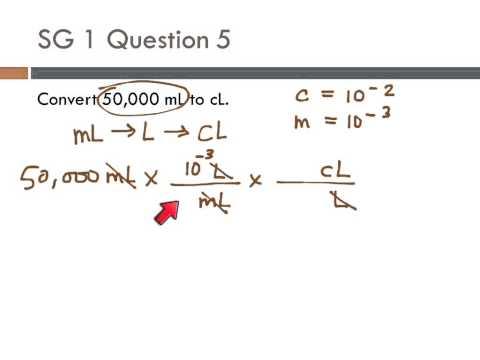 10 SG1 #5 Convert ML To CL