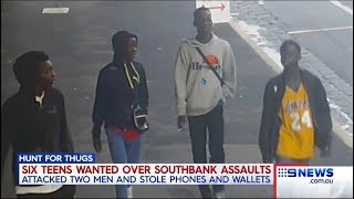 Seven + Nine News. Black Gang Southbank Robberies.(eBikes)(Apex)