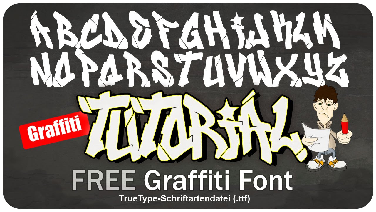 Graffiti Alphabet Font - Free Download - YouTube