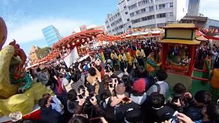 欅坂46の長濱ねるちゃんが長崎ランタンフェスティバル2018の皇帝パレー...