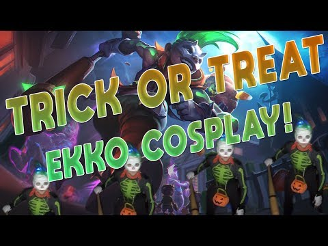 Maxske's Ekko | TRICK OR TREAT EKKO COSPLAY FOR HALLOWEEN!