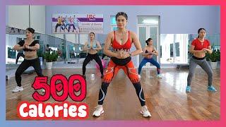 Download lagu Burn 500 Calories: Intense 50 Mins Full Body FAT BURNING Workout | Zumba Class