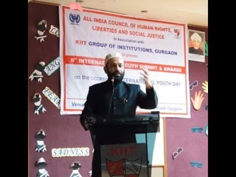 Dr. Mustafa Saasa Speech on International Youth Day at KIIT,Gurgaon on 10th August 2018