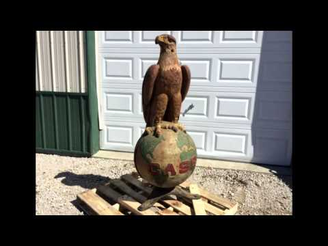Original Cast Iron Case Eagle Sells at Auction 2015